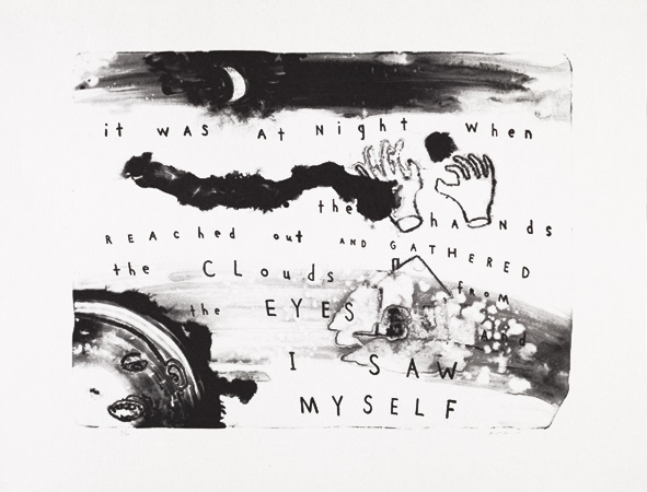 David Lynch--It was at Night when the Hands Reached Out and Gathered the Clouds from the Eyes and I Saw Myself
